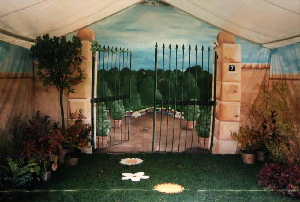 Art du jardin cocepia peinture trompe l 39 il en r gion for Trompe l oeil exterieur jardin